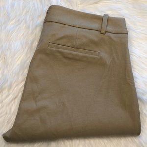 Tan J. Crew Minnie pants, size 6